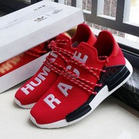 adidas nmd human race red leisure running sports shoes
