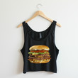 Hamburger - Black Crop Tank