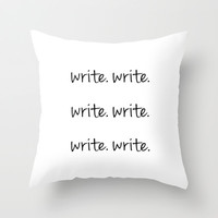 The Usual Advice for a Writer Throw Pillow by Kat Mun