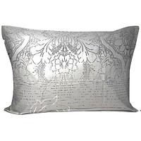 """Dada Bedding Set of Two Grey Floral Leaves Pillowcases - Queen 20"""" x 30"""" - 2-PCS (8197)"""