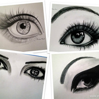 4 EYE DRAWING A2 SERIES by NadineHurstArt on Etsy