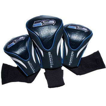 Seattle Seahawks 3 Pack Golf Contour Sock Headcovers