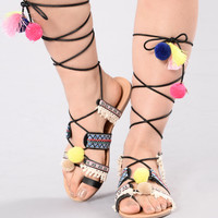 Cheer Up Sandal - Black