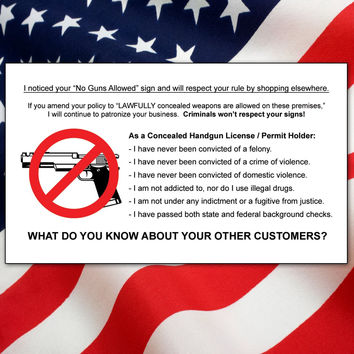 Concealed Carry Cards - Show Your Support of the 2nd Amendment!