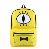 Less Is More: Anime Gravity Falls Bill Cipher High Quality Canvas Solid Color Laptop Backpack/Double-Shoulder School Bag