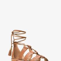 Monterey Gladiator Leather Lace-up Sandal | Michael Kors