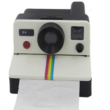 1 Pcs/set Creative Retro Polaroid Camera Shape Inspired Toilet Roll Box / Toilet Paper Holder