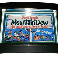 Mini Mt. Dew retro Label Nice Framed Art Print Display Memorabilia Man Cave