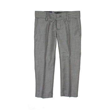 Armando Boys' Skinny Fit Medium Grey Textured Pant