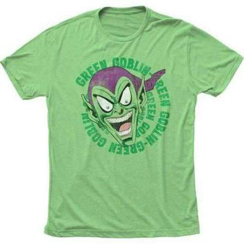 Mens Green Goblin Laughing Retro T-Shirt