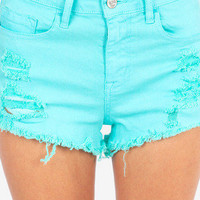 Calling Color High Waisted Cutoff Shorts $35