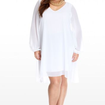 Plus Size Adeline Chiffon Dress | Fashion To Figure