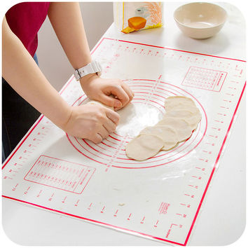 2 PCS/set Large+Small Silicone Baking Mat Pizza Dough Maker Pastry Kitchen Gadgets Cooking Tool Utensils Bakeware Supplies