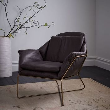 Origami Leather Lounge Chair