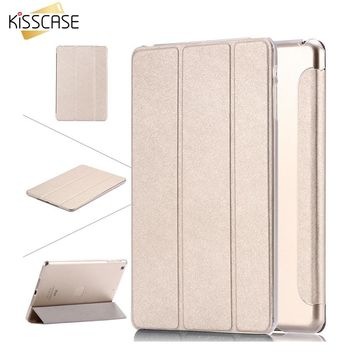 KISSCASE For Apple iPad Air 5 6 Air 2 PU Leather Case For iPad mini 1 2 Retina 3 7.9 Luxury Clear Stand Cover Case Mini 2 Mini 3