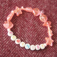 Feminist bracelet. Cute kawaii feminism-inspired bracelet. Subtle and fun, show people who they're talking to!!!