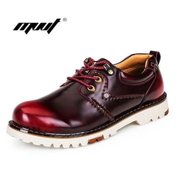 Men Leather Boots Men autumn boots Male Work Footwear High Quality Autumn Winter Men W