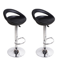Harads Black Modern Bar Stools (Set of two)