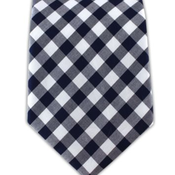 Cotton Table Plaid - Navy (Cotton)   Ties, Bow Ties, and Pocket Squares   The Tie Bar