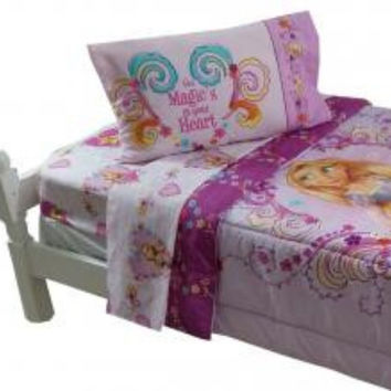 Disney Tangled Twin Bedding Set Rapunzel Magic Heart Bed