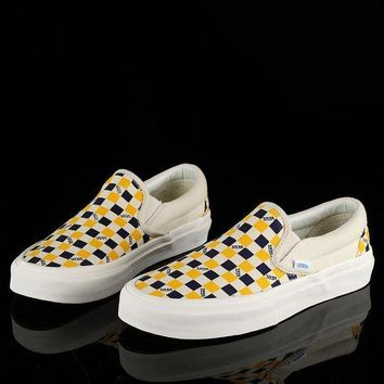 ONETOW Trendsetter Vans Vault OG Classic Slip-On Lx Canvas Old Skool Checkerboard Flats Shoes