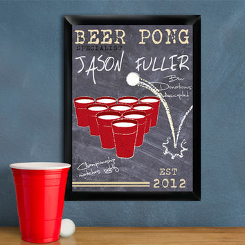 Beer Pong Traditional Sign - Specialist
