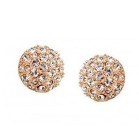 Champagne Austrian Crystal Studs  by Hallomall