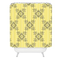 Lara Kulpa Ornamental Yellow Shower Curtain
