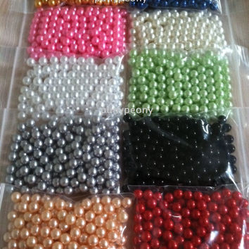 8mm Pearls No Holes For Craft Project, Candle Vase Fillers, Table Scatters, Confetti