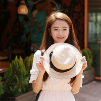Kim lot of Korean women Summer new black and white small fresh sweet temperament elegant dress goddess Fan Xuesheng