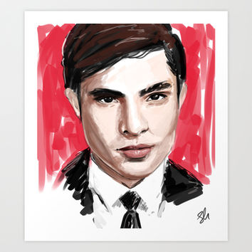 Chuck Bass Art Print by Tantoun