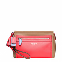 legacy colorblock leather large wristlet