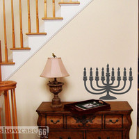 Hanukkah Menorah - Vinyl Wall Art - FREE Shipping - Inspirational
