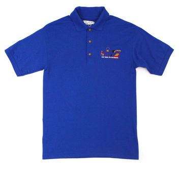 "Gallery 909 ""Don't Blame"" Polo, Blue"