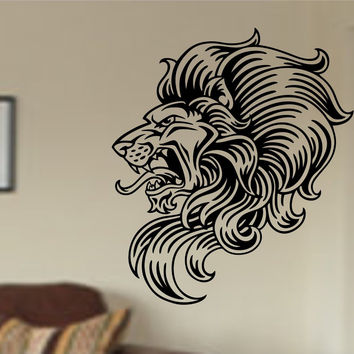 Lion Face Version 111 Sticker Wall Decal Animal King of the Jungle Art Graphic