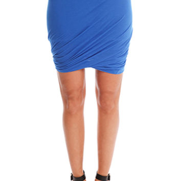 Enza Costa Doubled Skirt in Sapphire