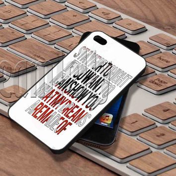Sleeping With Sirens lyrics 2 Cover - iPhone 5/5S/5C/4/4S, Samsung Galaxy S3/S4/S5