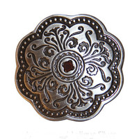Arabesque Belt Buckle - Antique Silver