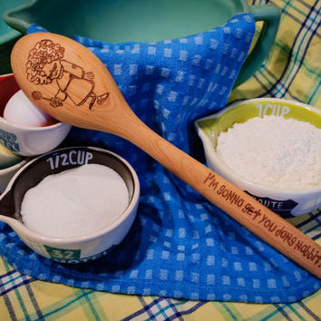 I'm going to get you dang nabbit Engraved Naughty Spoon  Beech Wood Personalized Gifts - Housewarming-Wedding Gifts - Holiday Kitchen Ideas