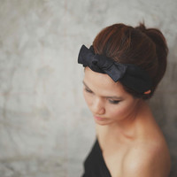 Black Valentine, Bow, Knot, Headband