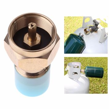 Outdoor Camping Stove Adaptor Propane Refill Adapter Lp Gas Cylinder Tank Coupler Furnace Connector Heater for Outdoor Cooking