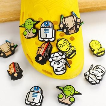 1PC novel fun Star Wars PVC Shoe Charms Shoe Accessories Shoe Decor for Croc  Wristbands kids Party Favors Gift