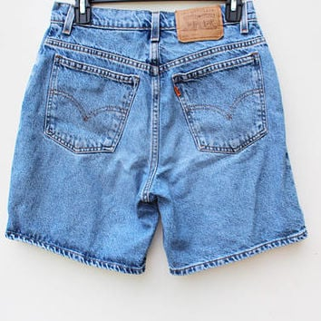 "Women's Levi's Shorts / Size 8 / 30"" Waist / 951 Relaxed Fit - Orange Tab / 90s Vintage Denim / Mom Jeans"