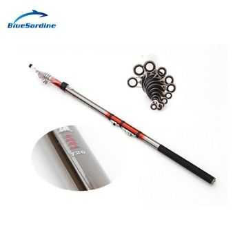 BlueSardine Fishing Rod Carbon Telescopic Spinning Rods for Fish Rock  Fishing Tackle New Pole 11 Sections 7.2M 6.3M 5.4M 4.5M