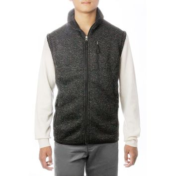 Mens Fleece Vest With Pockets Full Zip
