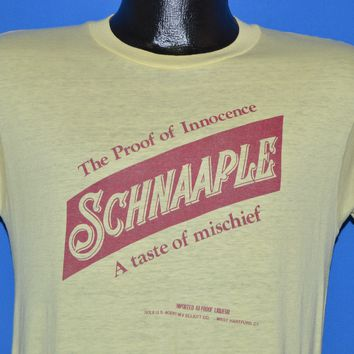80s Schnaaple A Taste Of Mischief Imported Liqueur t-shirt Small
