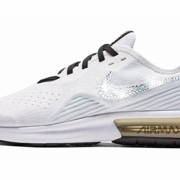 Nike Air Max Sequent 4 + Crystals - White Pale Ivory 086a10314b69