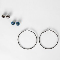 BKE Stud & Hoop Earring Set