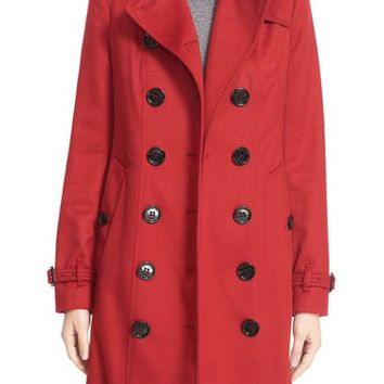 Burberry London 'Sandringham' Long Slim Cashmere Trench Coat | Nordstrom