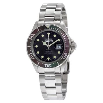 Invicta Pro Diver Charcoal Dial Stainless Steel Mens Watch 17055